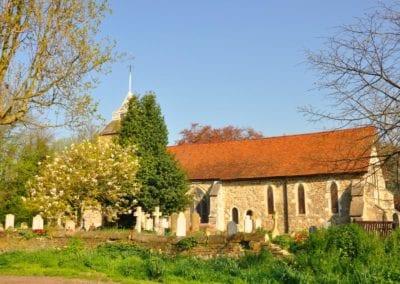 St Mary Virgin Church North Shoebury Rebuilding the Churchyard Wall 2018 1