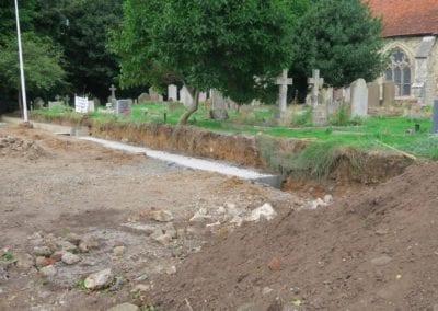 St Mary Virgin Church North Shoebury Rebuilding the Churchyard Wall 2018 7