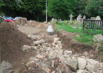 St Mary Virgin Church North Shoebury Rebuilding the Churchyard Wall 2018 8