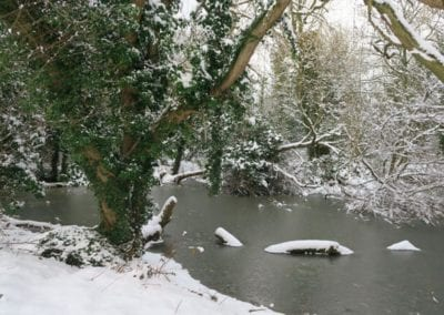 St Mary's conservation area in the snow 1
