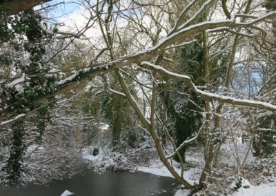 St Mary's conservation area in the snow 2