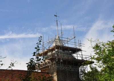 St Mary's spire with scaffold 6