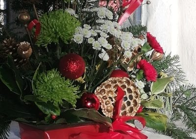 Christmas flowers detail 2019